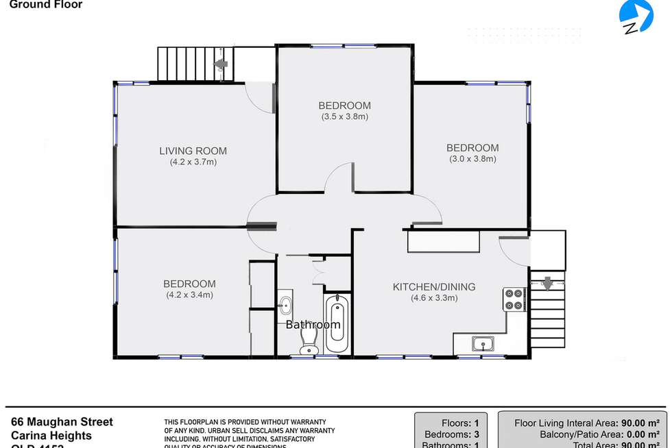 Floorplan of Homely house listing, 66 Maughan Street, Carina Heights QLD 4152