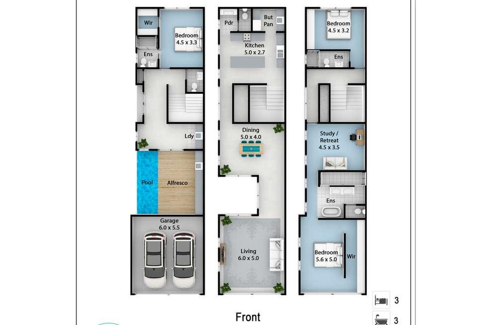 Floorplan of Homely house listing, 1/2298 Gold Coast Highway, Mermaid Beach QLD 4218
