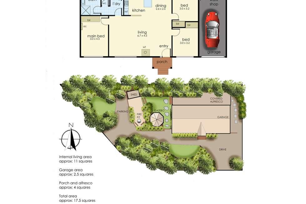 Floorplan of Homely house listing, 27A Nautilus Street, Rye VIC 3941