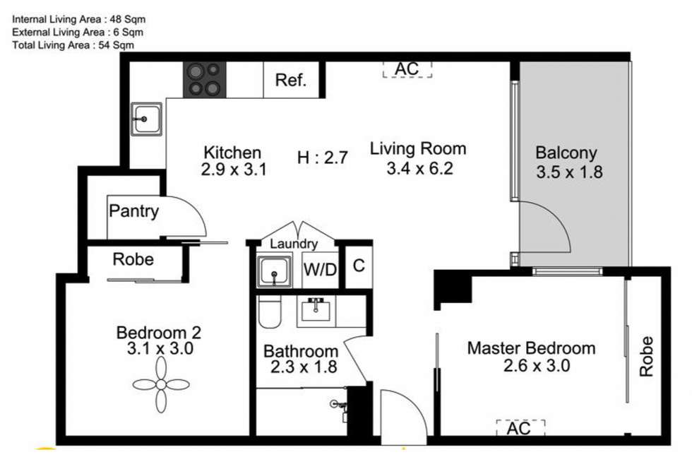 Floorplan of Homely apartment listing, 477 Boundary Street, Spring Hill QLD 4000