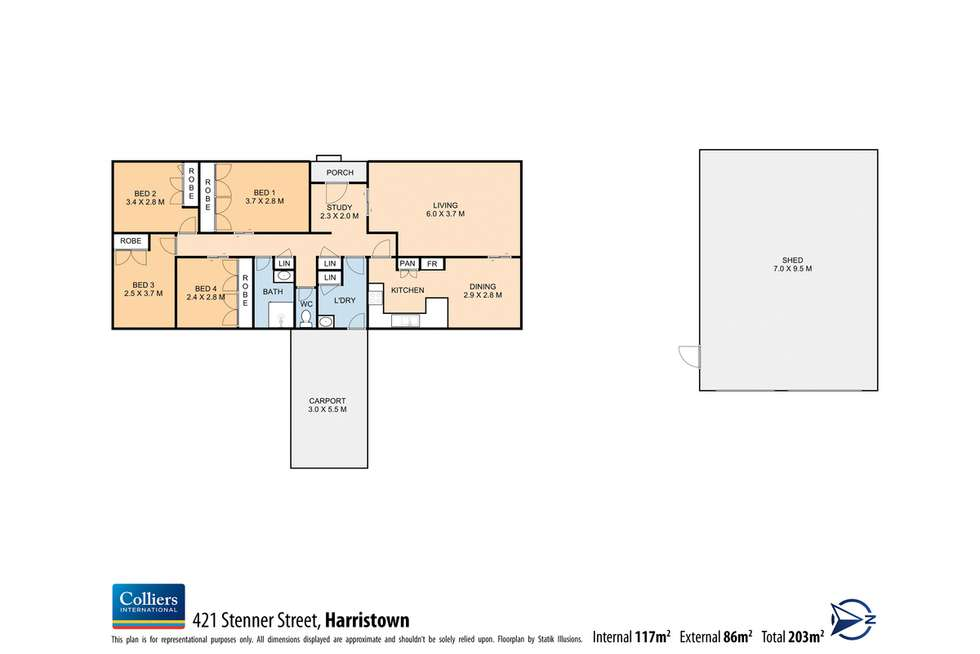 Floorplan of Homely house listing, 421 Stenner Street, Harristown QLD 4350