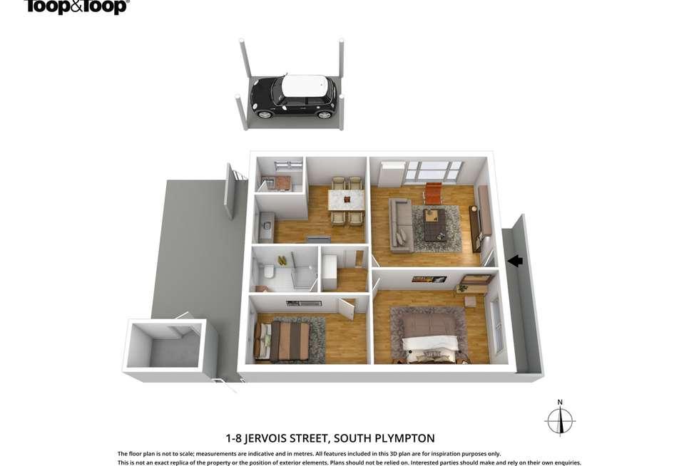 Floorplan of Homely unit listing, 1/8 Jervois Street, South Plympton SA 5038