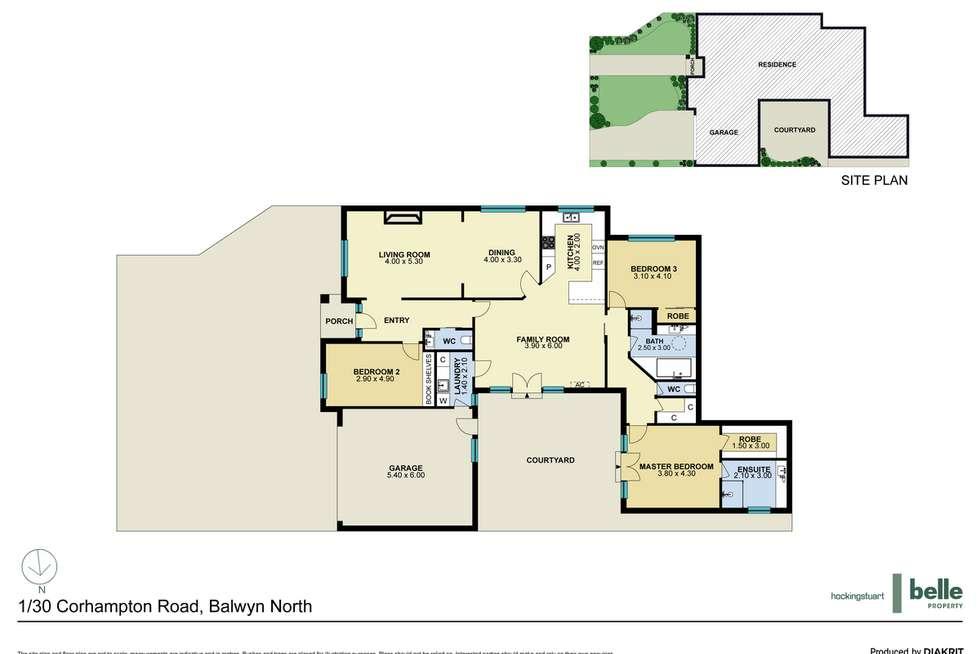 Floorplan of Homely townhouse listing, 1/30 Corhampton Road, Balwyn North VIC 3104