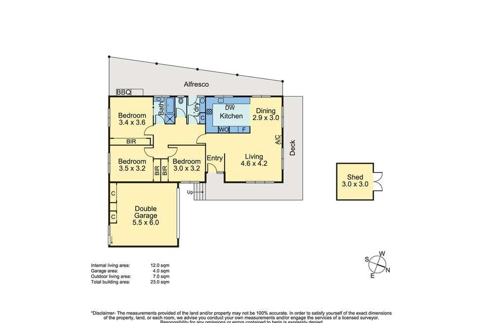 Floorplan of Homely house listing, 6 Lerwick Court, Frankston VIC 3199