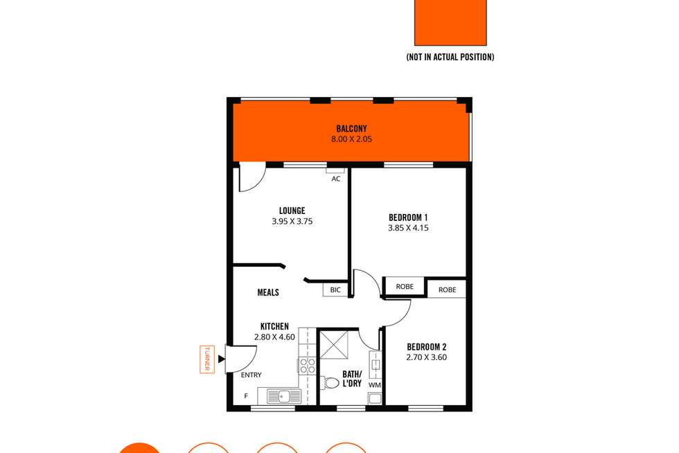 Floorplan of Homely unit listing, 8/22-24 Charles Street, Norwood SA 5067