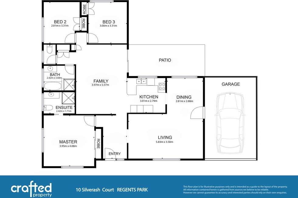 Floorplan of Homely house listing, 10 Silverash Court, Regents Park QLD 4118