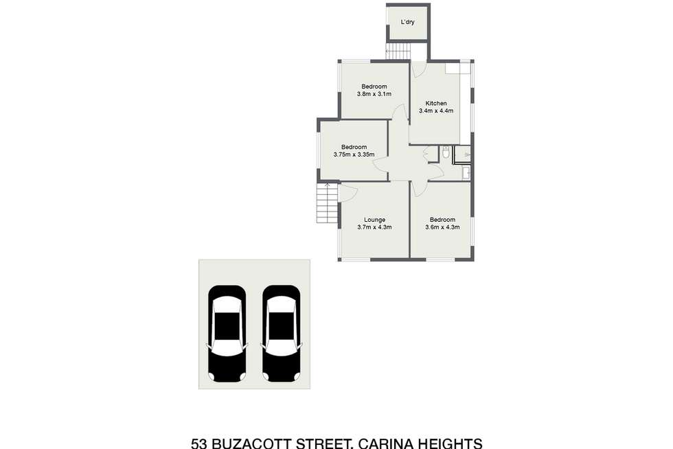 Floorplan of Homely house listing, 53 Buzacott Street, Carina Heights QLD 4152