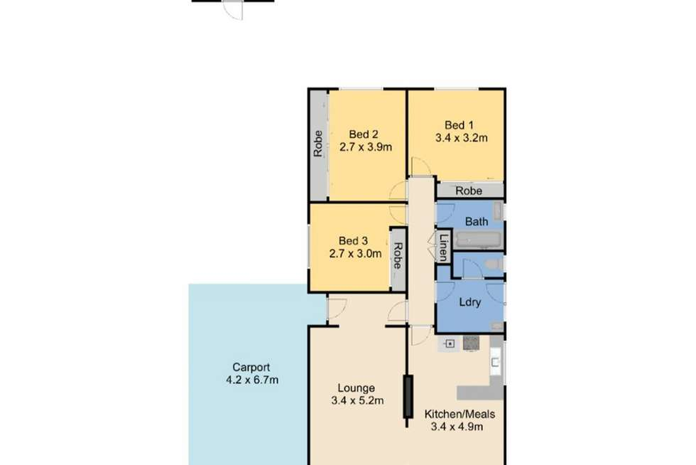 Floorplan of Homely house listing, 23 Overend Crescent, Sale VIC 3850