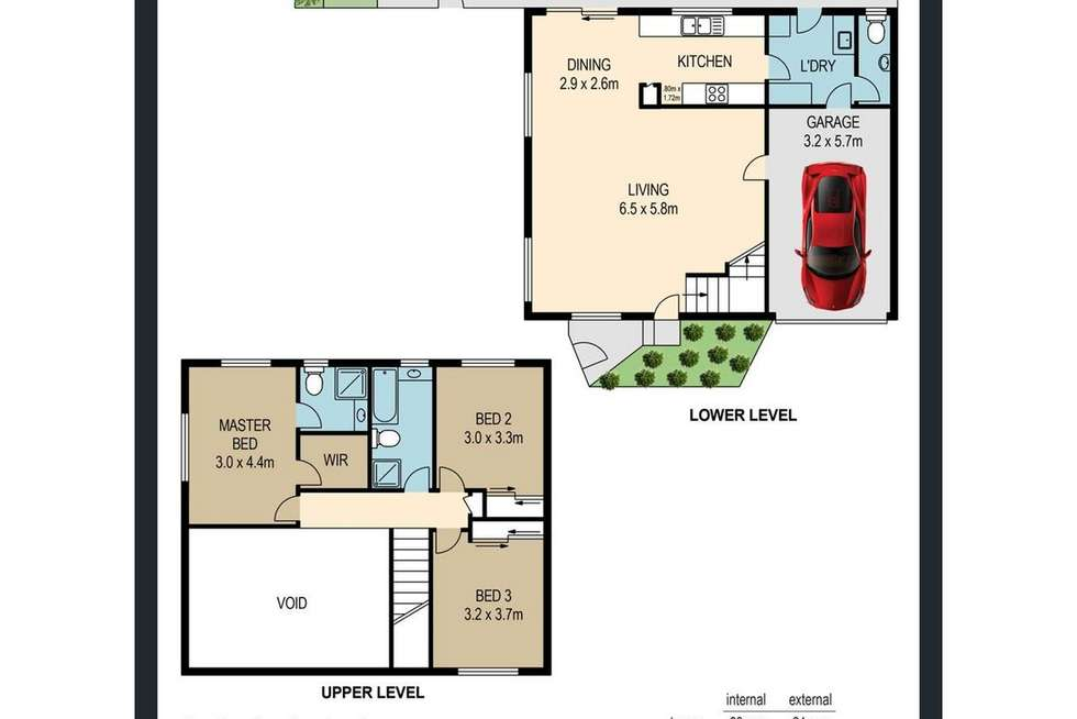 Floorplan of Homely townhouse listing, 1/32 Bindaree Street, Greenslopes QLD 4120