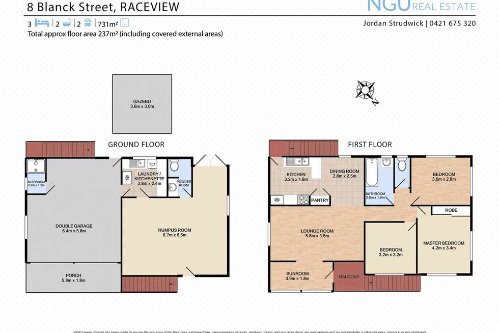 Floorplan of Homely house listing, 8 Blanck Street, Raceview QLD 4305