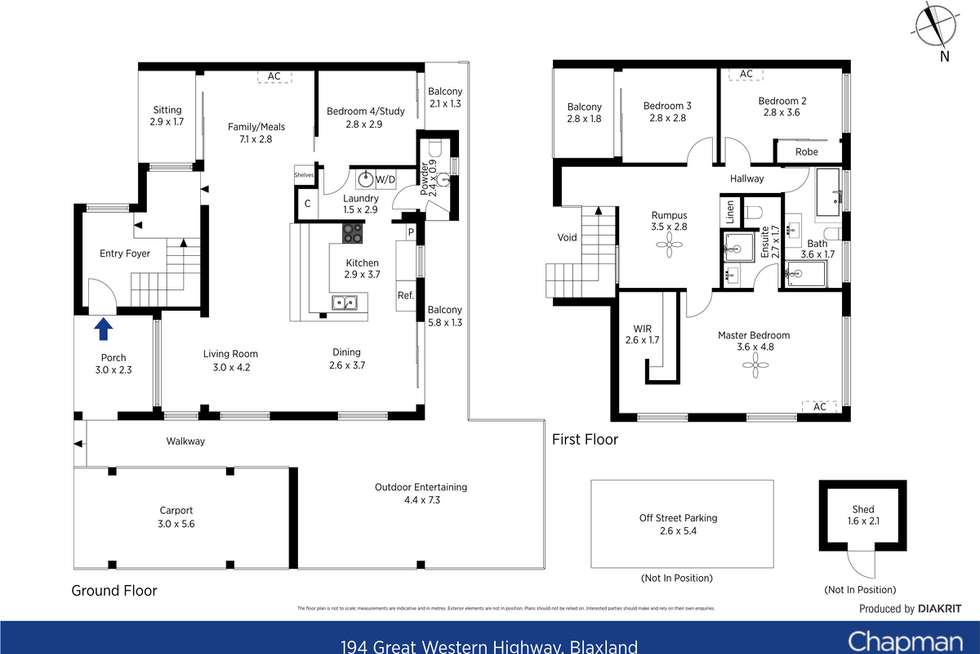 Floorplan of Homely house listing, 194 Great Western Highway, Blaxland NSW 2774