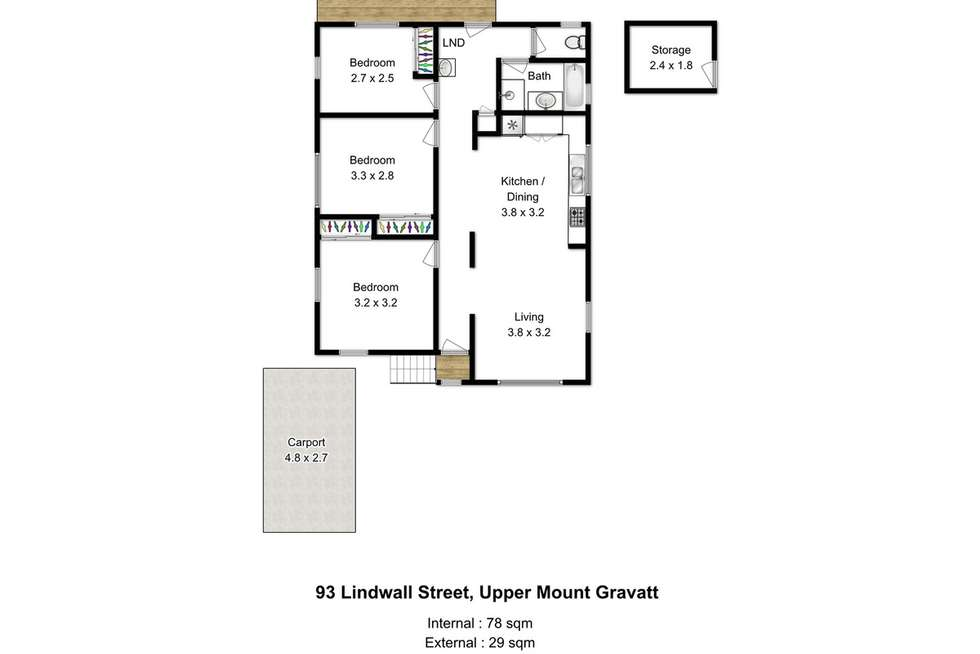 Floorplan of Homely house listing, 93 Lindwall Street, Upper Mount Gravatt QLD 4122