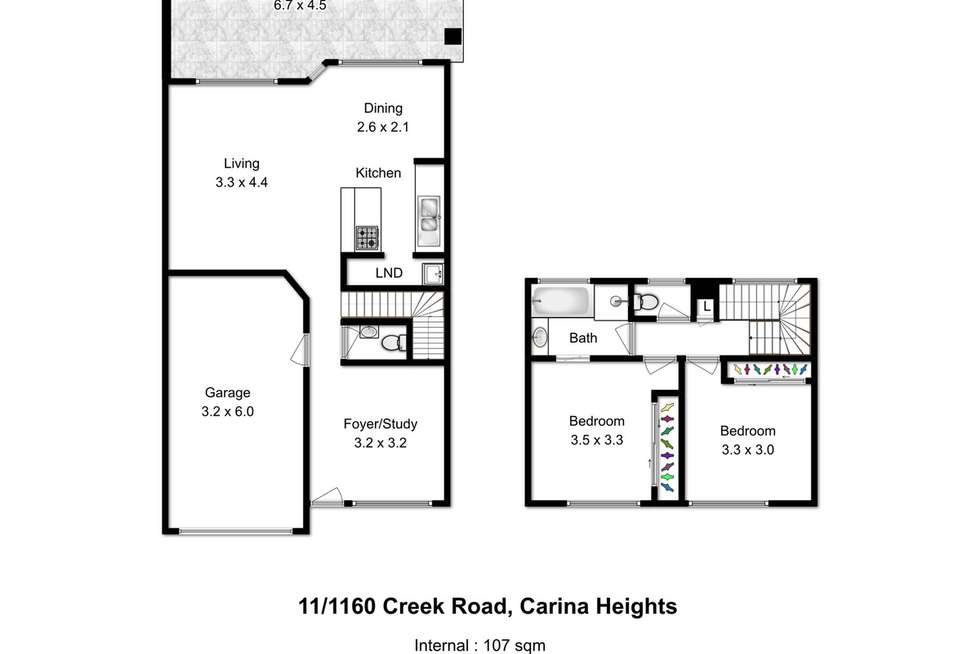 Floorplan of Homely townhouse listing, 11/1160 Creek Road, Carina Heights QLD 4152