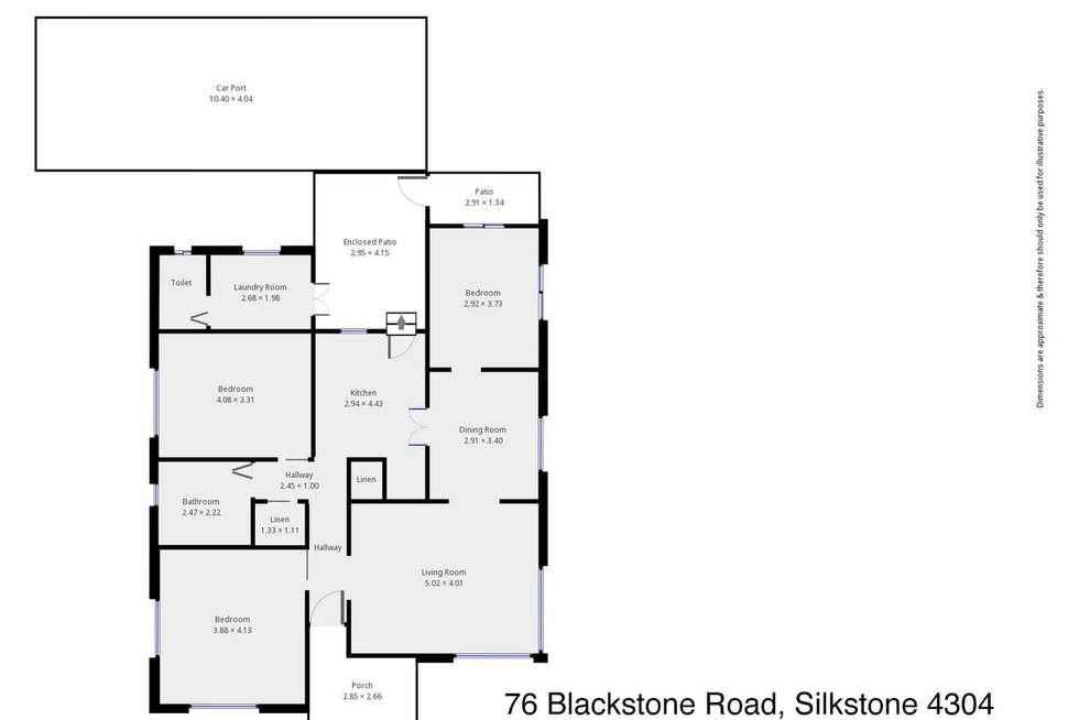Floorplan of Homely house listing, 76 Blackstone Road, Silkstone QLD 4304
