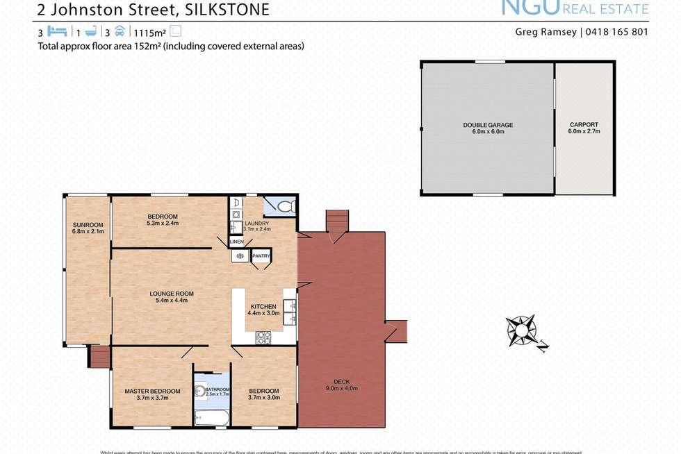 Floorplan of Homely house listing, 2 Johnston Street, Silkstone QLD 4304
