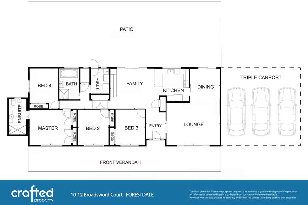 Floorplan of Homely house listing, 10 Broadsword Court, Forestdale QLD 4118