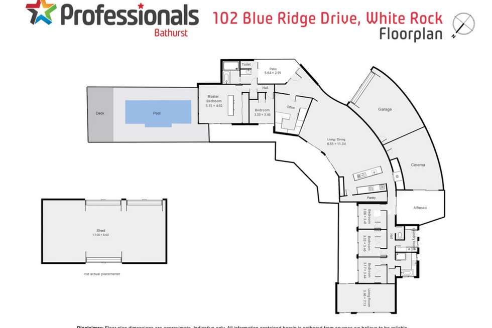 Floorplan of Homely house listing, 102 Blue Ridge Drive, White Rock NSW 2795