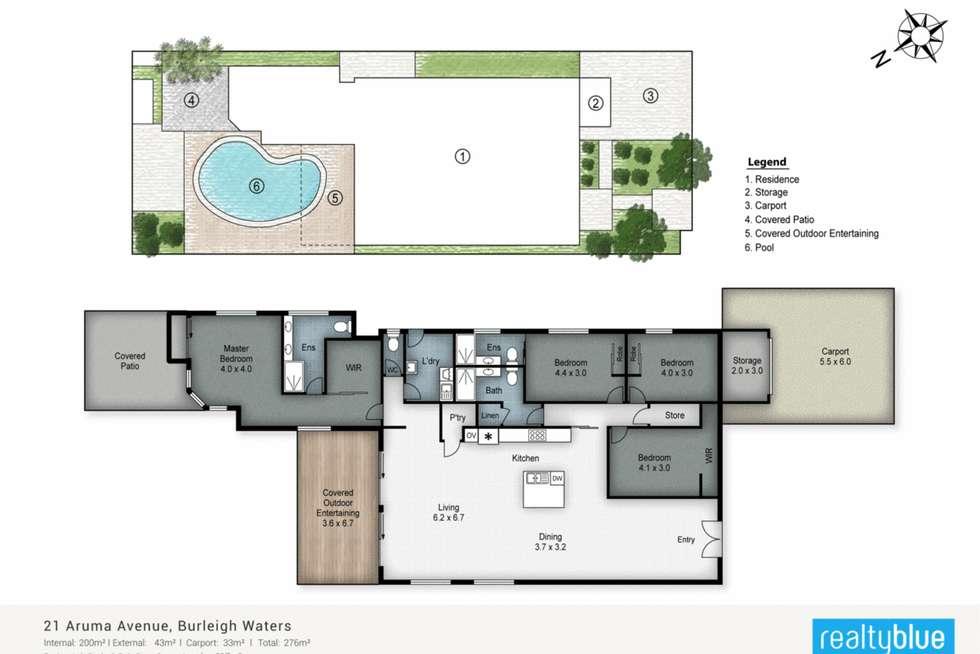 Floorplan of Homely house listing, 21 Aruma Avenue, Burleigh Waters QLD 4220