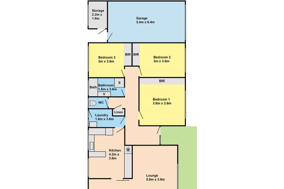 Floorplan of Homely house listing, 371 York Street, Sale VIC 3850