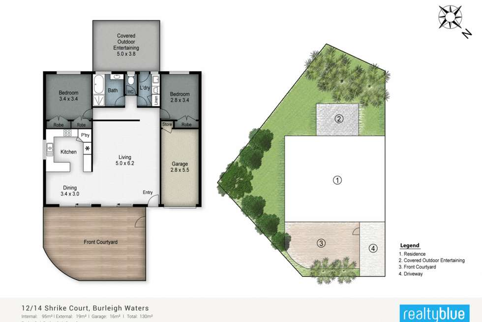 Floorplan of Homely villa listing, 12/14 Shrike Court, Burleigh Waters QLD 4220