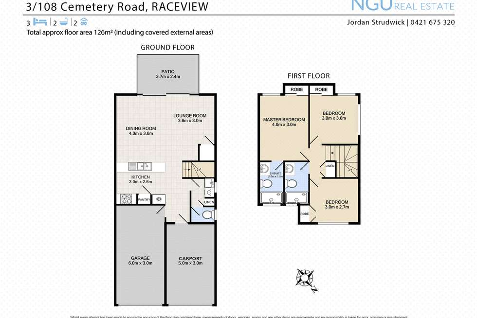Floorplan of Homely townhouse listing, 3/108A Cemetery Road, Raceview QLD 4305