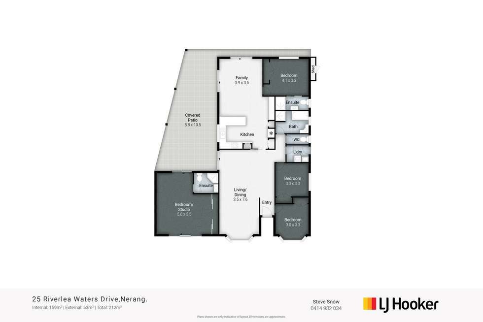 Floorplan of Homely house listing, 25 Riverlea Waters Drive, Nerang QLD 4211