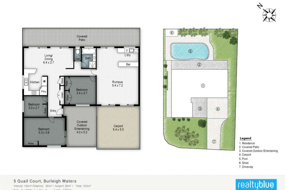 Floorplan of Homely house listing, 5 Quail Court, Burleigh Waters QLD 4220
