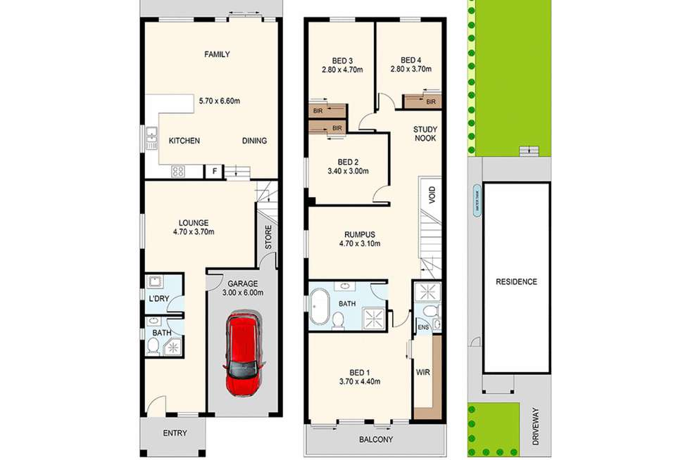 Floorplan of Homely semiDetached listing, 37A Wassell Street, Dundas NSW 2117