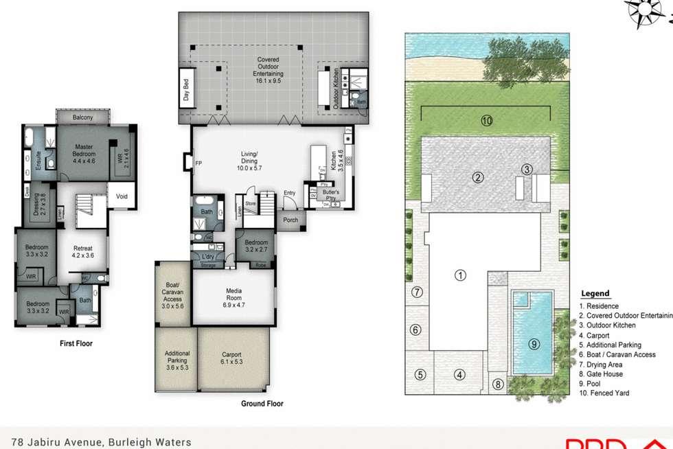 Floorplan of Homely house listing, 78 Jabiru Avenue, Burleigh Waters QLD 4220