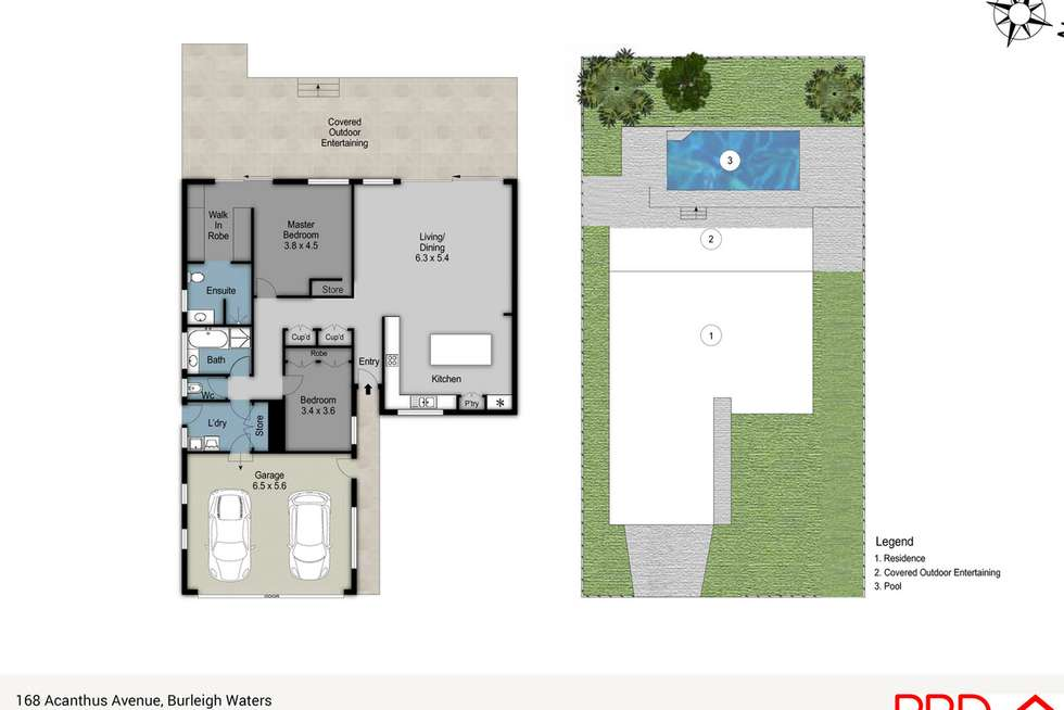 Floorplan of Homely house listing, 168 Acanthus Avenue, Burleigh Waters QLD 4220