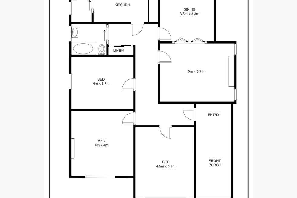 Floorplan of Homely house listing, 28 McDonald Street, Colac VIC 3250