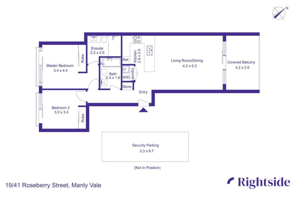 Floorplan of Homely apartment listing, 19/41 Roseberry Street, Manly Vale NSW 2093