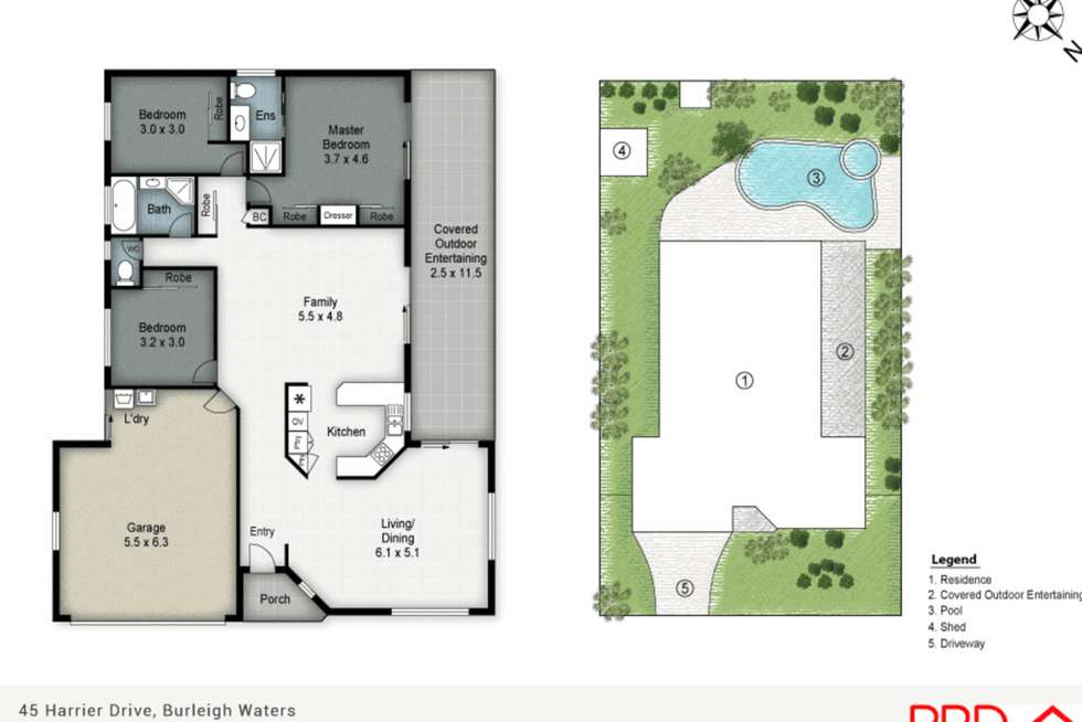 Floorplan of Homely house listing, 45 Harrier Drive, Burleigh Waters QLD 4220