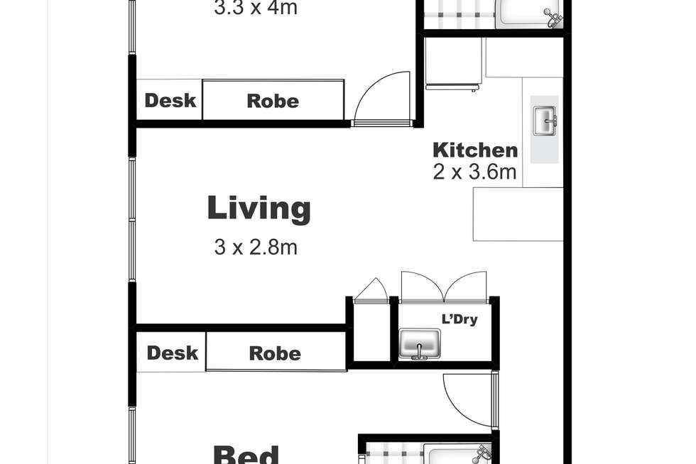 Floorplan of Homely unit listing, 8/9 Uniplaza Court, Kearneys Spring QLD 4350