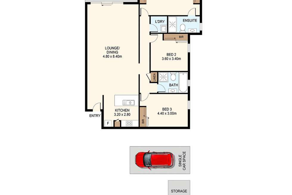 Floorplan of Homely apartment listing, 13/121-127 Railway Parade, Granville NSW 2142