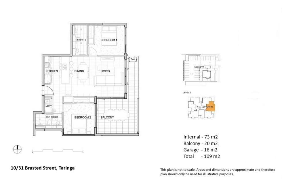 Floorplan of Homely unit listing, 10/31 Brasted Street, Taringa QLD 4068