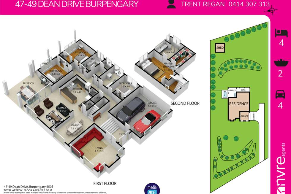 Floorplan of Homely house listing, 47-49 Dean Drive, Burpengary QLD 4505