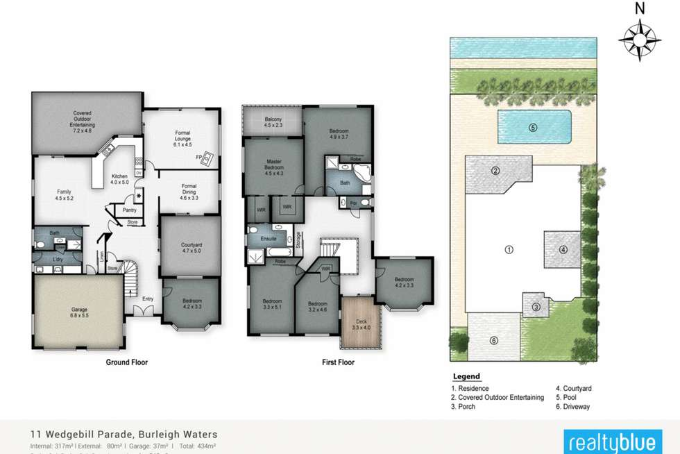 Floorplan of Homely house listing, 11 Wedgebill Parade, Burleigh Waters QLD 4220
