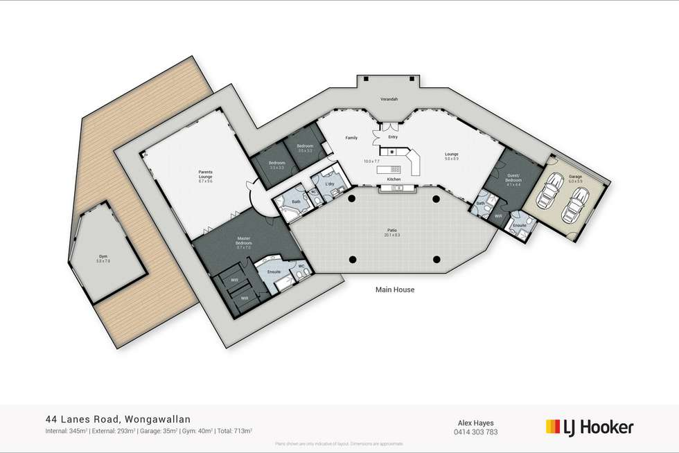 Floorplan of Homely acreageSemiRural listing, 44 Lanes Road, Wongawallan QLD 4210
