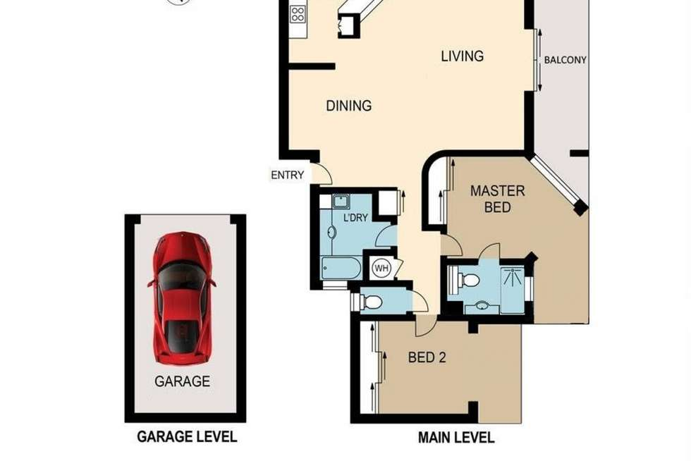 Floorplan of Homely unit listing, 3/298 Swann Road, St Lucia QLD 4067