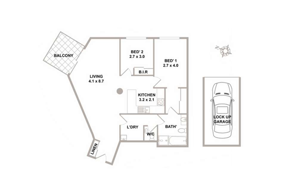 Floorplan of Homely apartment listing, 27/1-3 Thomas Street, Hornsby NSW 2077