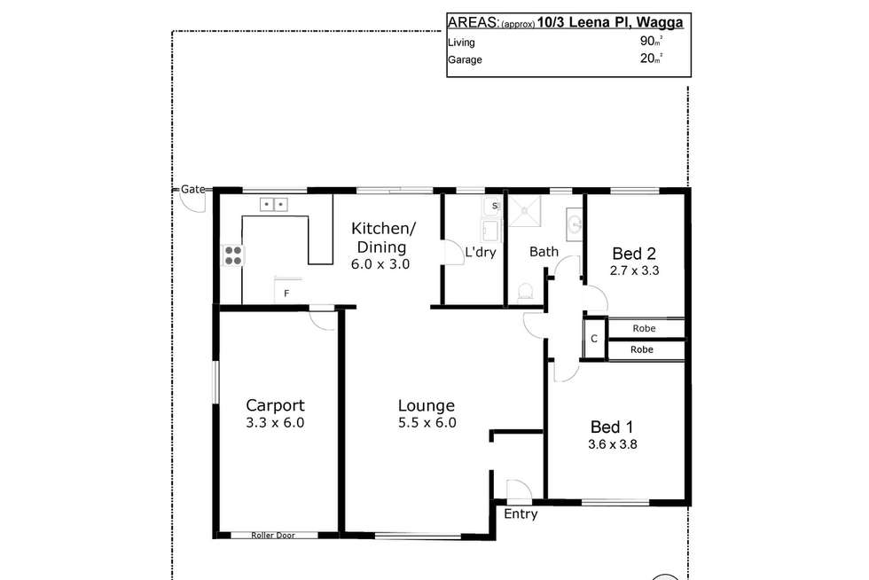 Floorplan of Homely unit listing, 10/3 Leena Place, Wagga Wagga NSW 2650