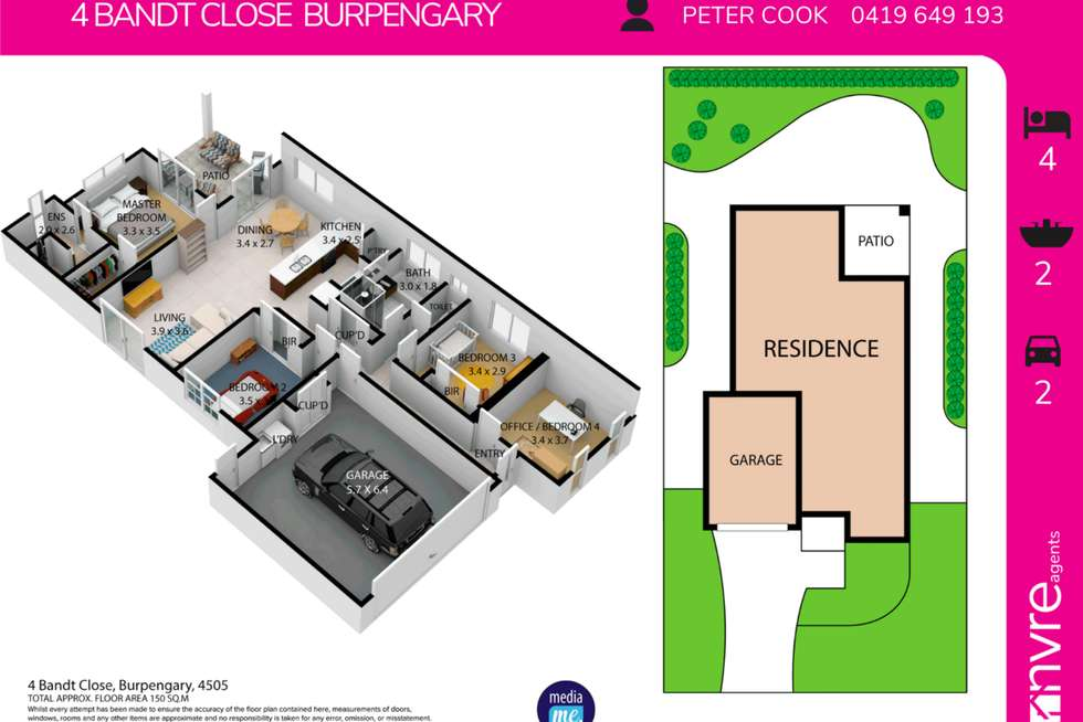 Floorplan of Homely house listing, 4 Bandt Close, Burpengary QLD 4505