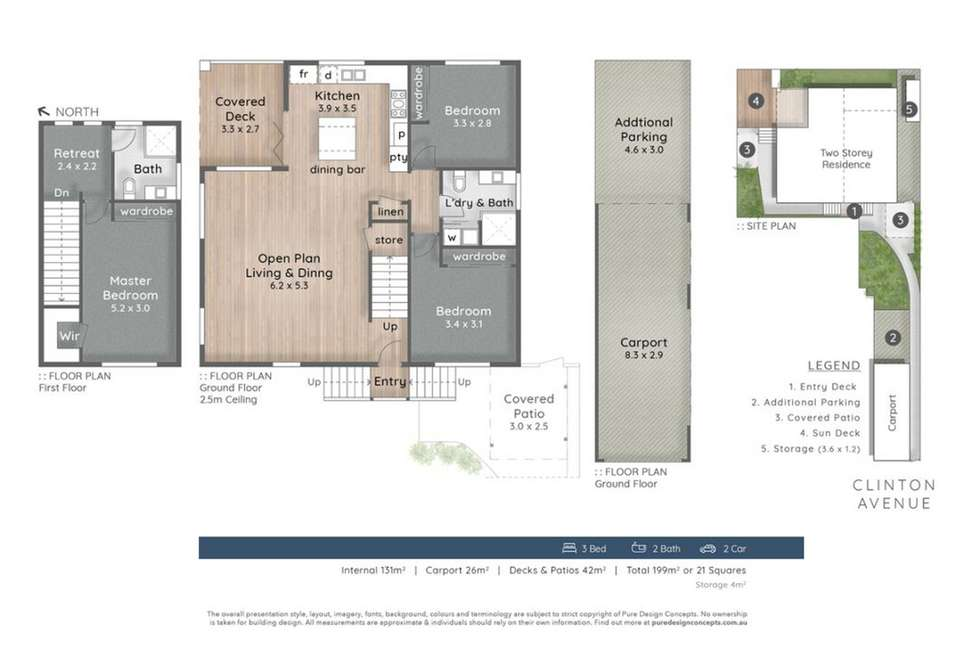 Floorplan of Homely semiDetached listing, 2/21 Clinton Avenue, Burleigh Waters QLD 4220