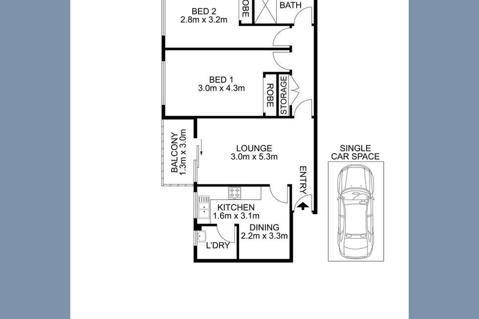 Floorplan of Homely unit listing, 7/38 Dartbrook Road, Auburn NSW 2144