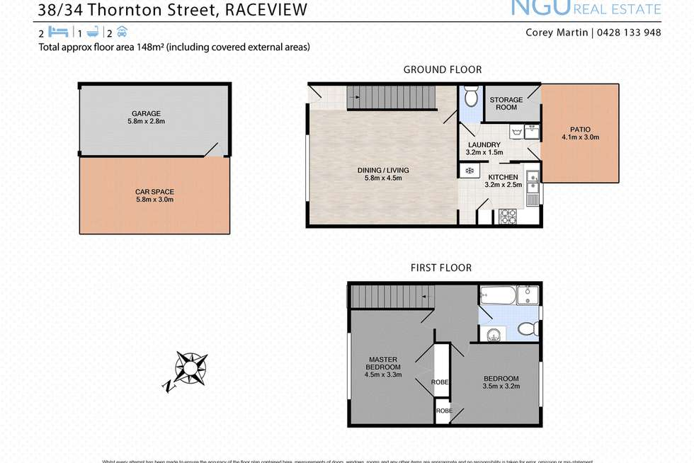 Floorplan of Homely unit listing, 38/34 Thornton Street, Raceview QLD 4305