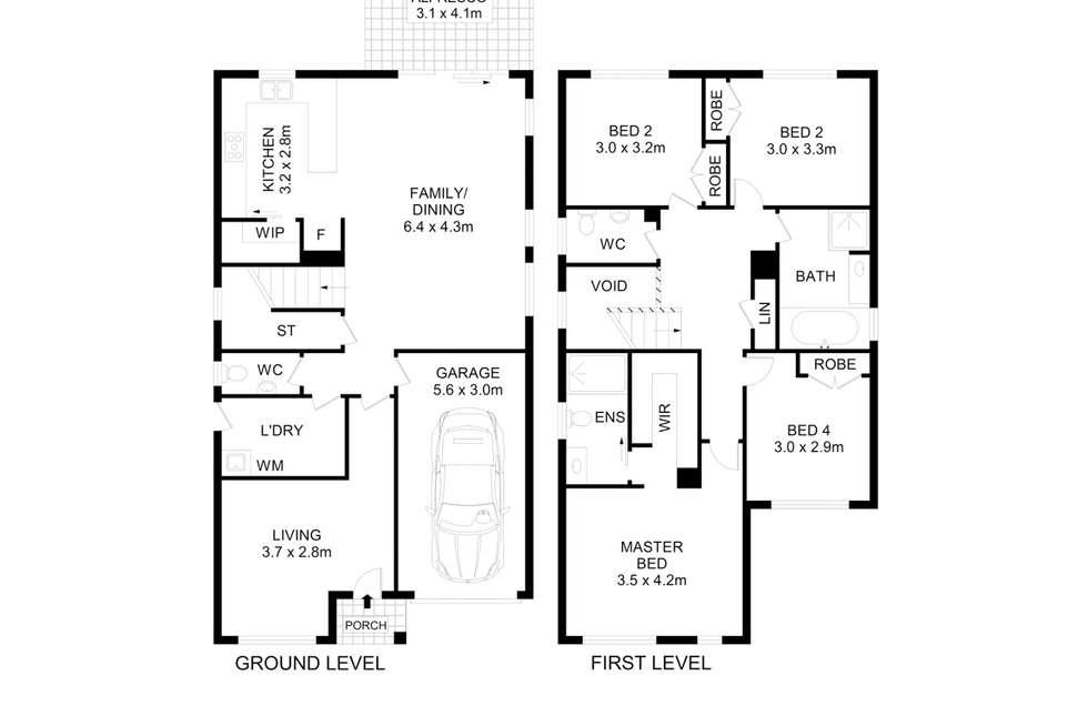 Floorplan of Homely house listing, 10 Tedbury Road, Jordan Springs NSW 2747