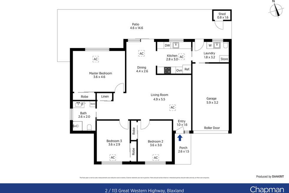 Floorplan of Homely villa listing, 2/113 Great Western Highway, Blaxland NSW 2774