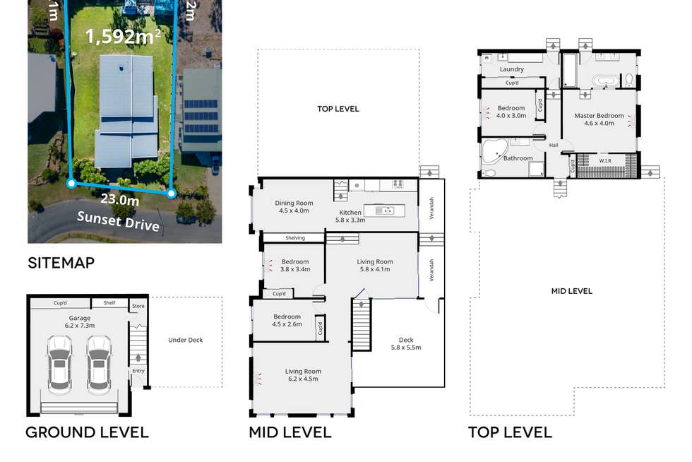 Floorplan of Homely house listing, 21 Sunset Drive, Norman Gardens QLD 4701