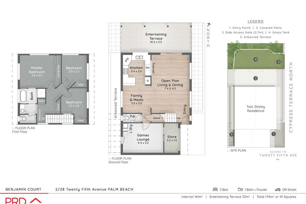 Floorplan of Homely semiDetached listing, 405 Cypress Terrace North, Palm Beach QLD 4221
